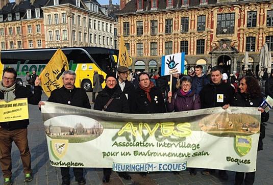 AIVES dans les rues de Lille le 27 février 2016
