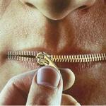 bouche fermée